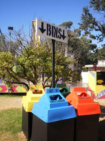 blue bin: Recycle bins