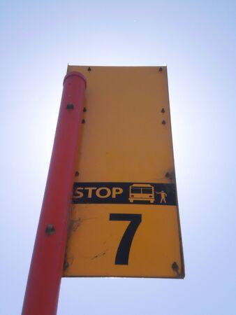 fermata bus: bus stop no.7 Archivio Fotografico