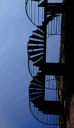 Silhouette of Spiral Stairs photo