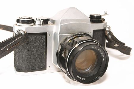 standard steel: A vintage, old, reliable mechnical manual SLR camera. Well weathered yet reliable and dependable in the age of relying too much on electronics to do simple tasks.