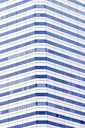 distinct: Windows of skyscraper, showing a distinct pattern, and clear blue windows. Abstract for urbanization Stock Photo