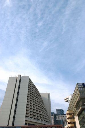 skyscape: Hoteles, oficinas, edificios comerciales en la ciudad wth skyscape
