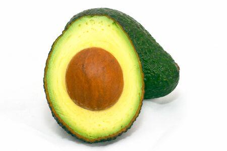 Avocado, isolated white background photo