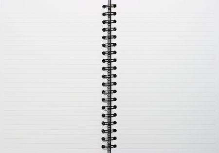 Empty blank ring, spiral notepad, two pages photo
