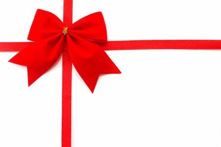 free christmas background: Gift wrap on a white background, top view, horizontal orientation