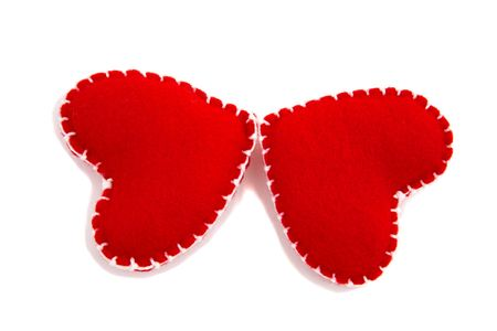Two hearts make a butterfly photo