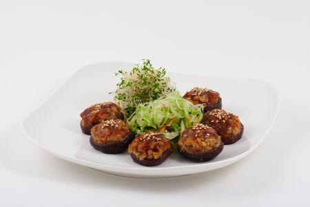 Healthy Chinese Vegetarian Mushroom Dish photo