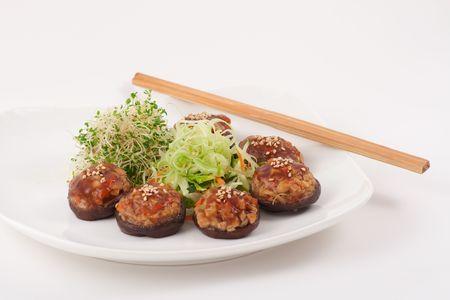 Healthy Chinese Vegetarian Mushroom Dish Stock Photo - 4736768
