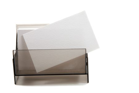 coporate: White blank business  name card in a box