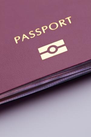 Közeli kép egy biometrikus útlevél.