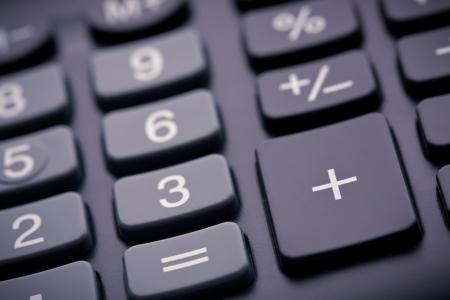 algebra calculator: A macro photograph of a calculator Stock Photo