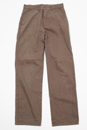 Een paar bruine winter mannelijke broek op een witte achtergrond. Stockfoto - 20358679