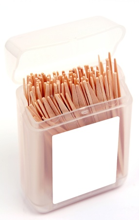 A pack of dental toothpicks used as a substitute for floss Stock Photo - 20382258