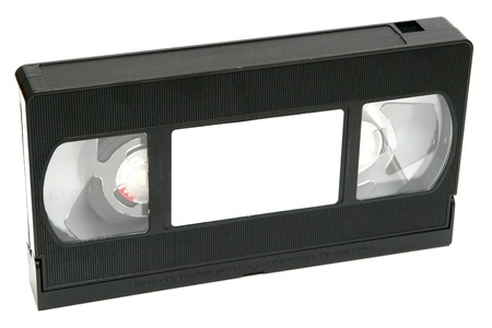 videotape: An old videotape on white background. Stock Photo