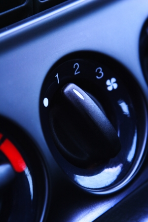 airflow: Car ventilation knob for regulating the speed of the incoming airflow.
