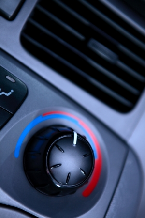 airflow: A modern car ventilation knob for regulating the temperature of the incoming airflow.