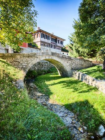 uprising: Historic bridge in the town of Koprivshtitsa, Bulgaria over the Topolnitsa river, where the April Uprising began in 1876. Stock Photo