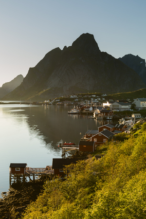 The fishing town of Reine on the Lofoten Islands, Norway. Stockfoto