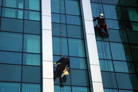washing windows, facades 2 photo