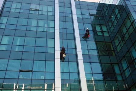 washing windows, facades 3 photo