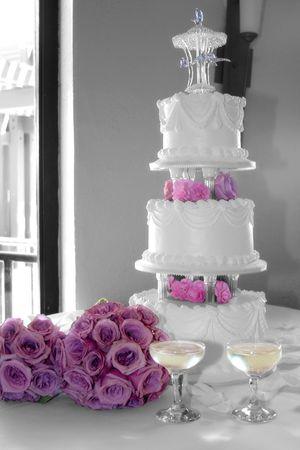 a floral wedding cake