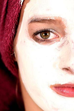 teen with face mask Standard-Bild