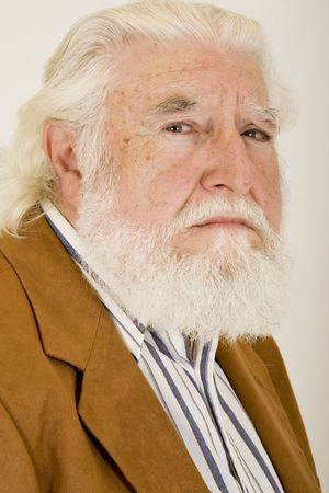 an unhappy old man Standard-Bild