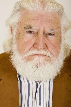 unhappy old man Banco de Imagens