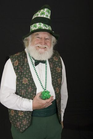 an old man dressed as a Leprechaun Stock Photo - 2704909