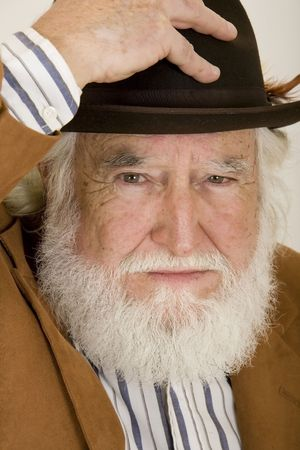 old man in a hat Standard-Bild