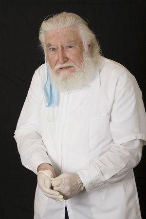 een oude arts Stockfoto