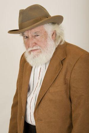 bushy: mad old man 2 Stock Photo