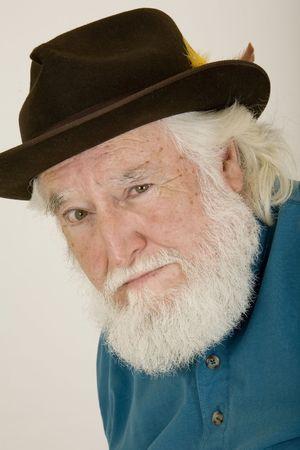 bushy: sad old man 2 Stock Photo