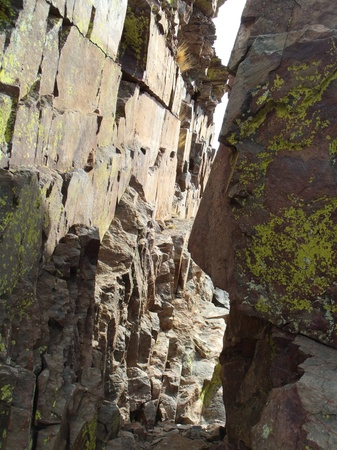 protuberance: Rock Formation Vertical Wall Lemon Squeeze Stock Photo