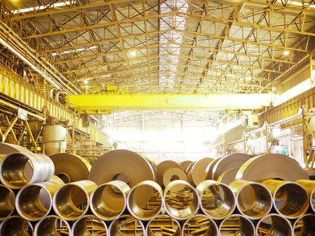 Industrie de l'acier Coil Banque d'images