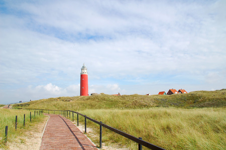 Lighthouse at isle Texel, Holland Europe.