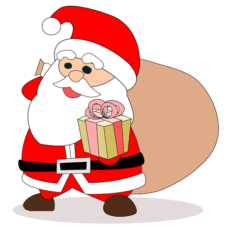 Santa gift boxes Vectores