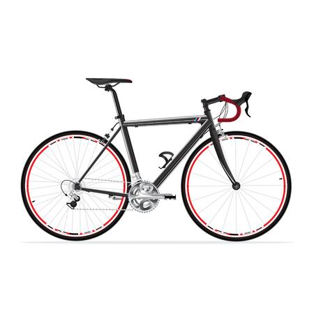 vélo de route de course vélo isolé sur blanc, engins fixes