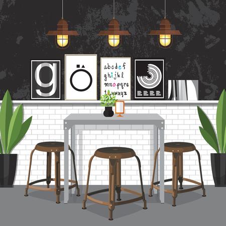 Płaska konstrukcja Inter Dining Room Ilustracja