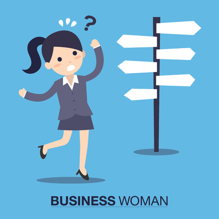 Businesswoman confused Иллюстрация