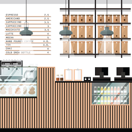 A vector illustration of interior of a modern Bakery shop Ilustrace