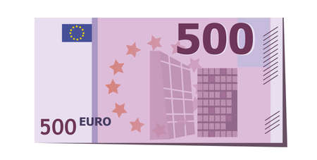 500 Euro banknote vector illustration. European currency.
