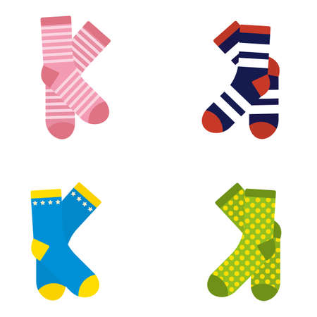 A pair of colorful socks vector illustration.