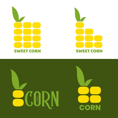 Corn   design. Maize symbol vector illustration in flat style. Illustration