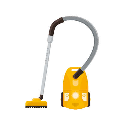 Vacuum Cleaner. Housekeeping cleaning equipment vector illustration.