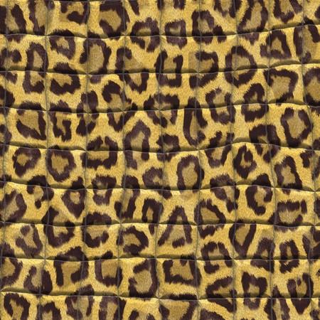 Tela Foto leopardo motivos estilizados en la computadora Foto de archivo - 72287704
