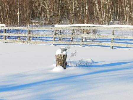 Winter landscape in the campaign after a big snow Reklamní fotografie