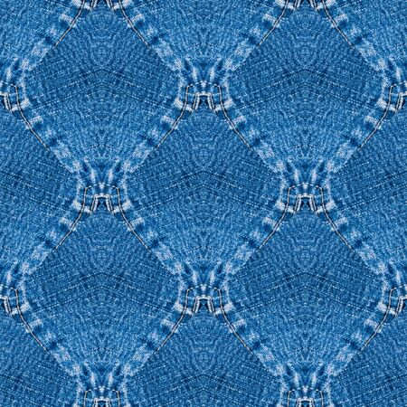 Computer design on a blue jeans Photo