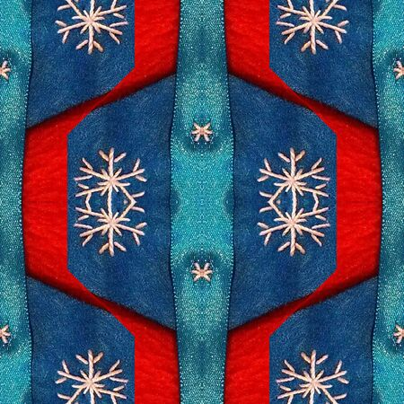 Computer design background with snowflakes
