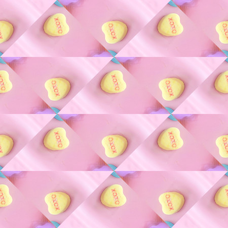 Computer design background with yellow hearts for scrapbooking and more